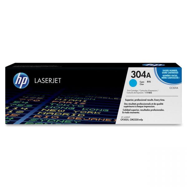 HP 304A Cyan Toner Cartridge (CC531AG)