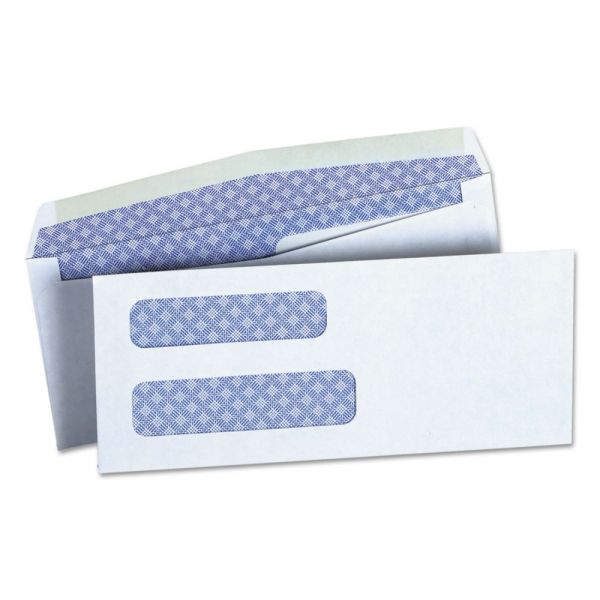Universal Double Window Check Envelope, #8 5/8, 3 5/8 x 8 5/8, White, 500/Box