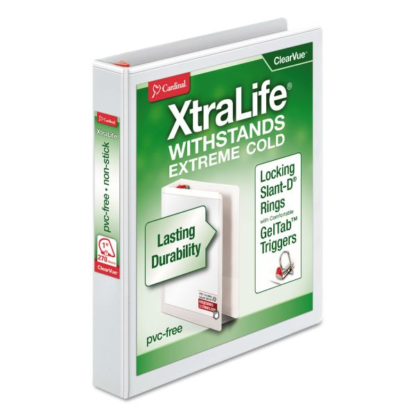 "Cardinal XtraLife 1"" 3-Ring View Binder"