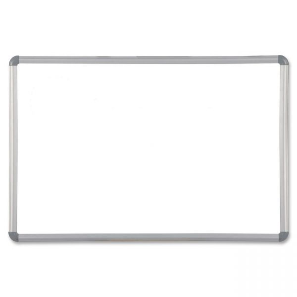 Best-Rite Magne-Rite Magnetic Dry Erase Board, 36 x 24, White, Silver Frame
