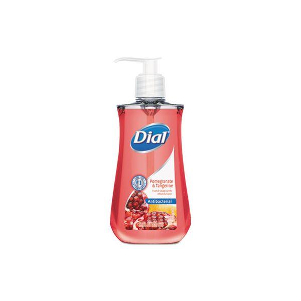 Dial Antimicrobial Liquid Soap, 7 1/2 oz Pump Bottle, Pomegranate & Tangerine, 12/CT