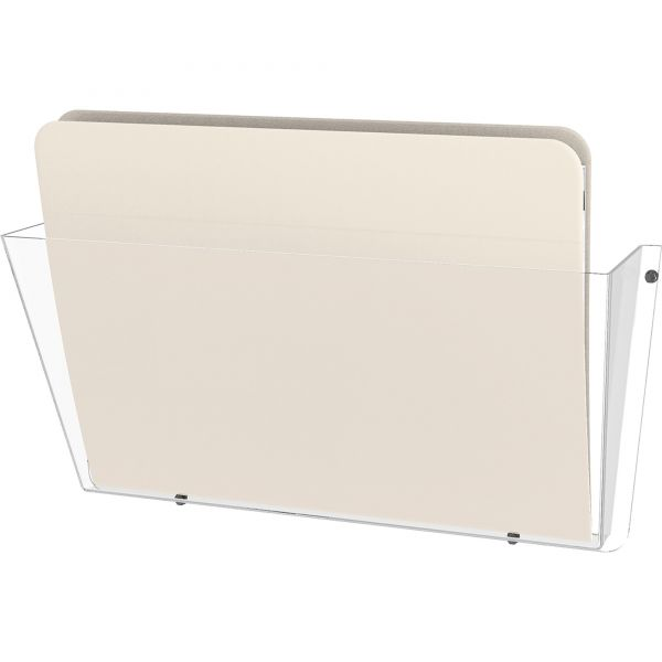 deflecto Unbreakable DocuPocket Wall File, Letter, 14 1/2 x 3 x 6 1/2, Clear