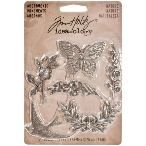 "Idea-Ology Metal Nature Adornments 1.125"" 6/Pkg"