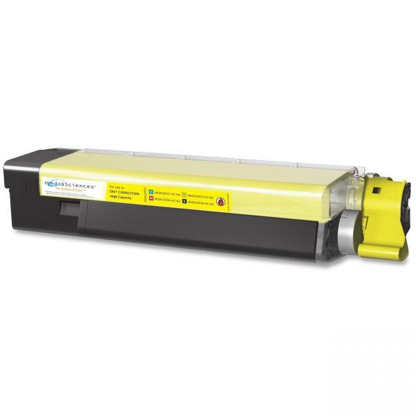 Media Sciences Remanufactured Oki 43324401 Yellow Toner Cartridge