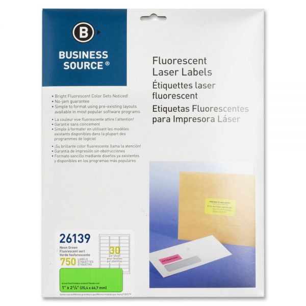 Business Source 26139 Color Coded Fluorescent Labels