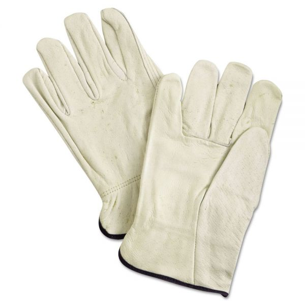Memphis Unlined Pigskin Driver Gloves, Cream, X-Large, 12 Pair