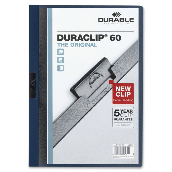 Durable DURACLIP Clear Front Report Covers