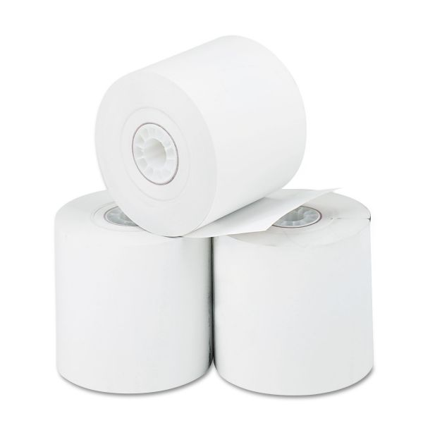"PM Company Thermal Paper Rolls, Cash Register/Calculator, 2 1/4"" x 165 ft, White, 3/Pack"