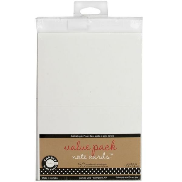 "Value Pack Cards & Envelopes 4""X5.5"" 50/Pkg"