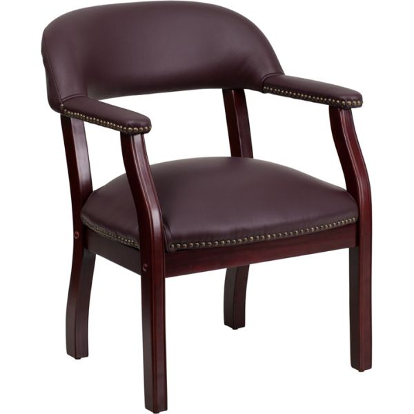 Flash Furniture Burgundy Leather Conference Chair