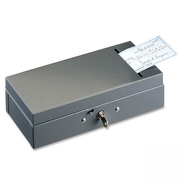 SteelMaster Steel Bond Box with Check Slot, Disc Lock, Gray