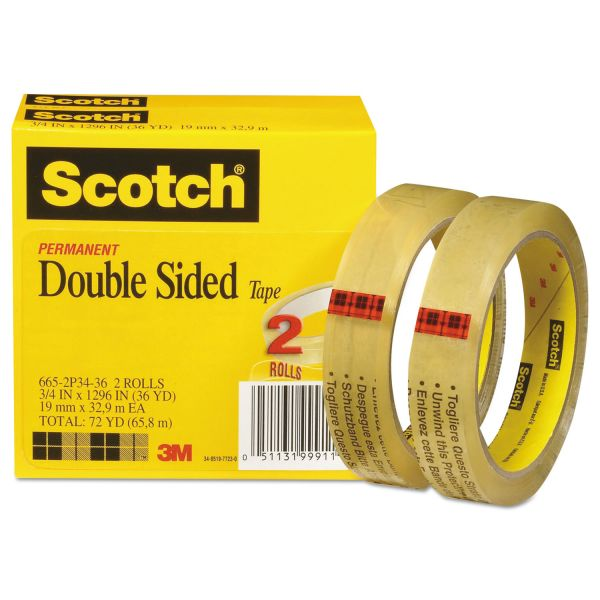Scotch Permanent Double-Sided Tape Refills