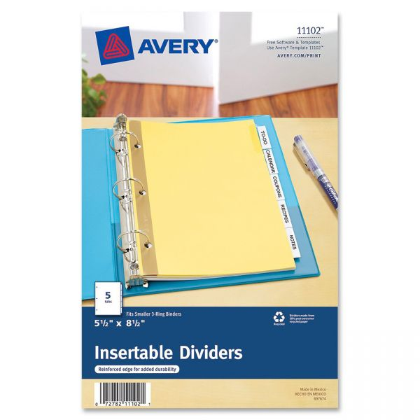 Avery WorkSaver Standard Insertable Tab Index Dividers