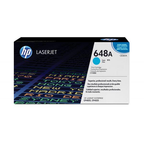 HP 648A Cyan Toner Cartridge (CE261A)