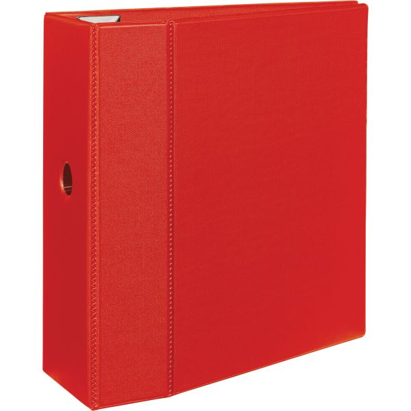 "Avery Heavy-Duty 3-Ring Binder with One Touch EZD Rings, 5"" Capacity, Red"