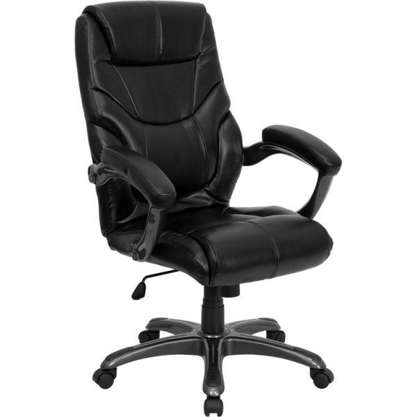 Flash Furniture High Back Overstuffed Executive Swivel Office Chair [GO-724H-BK-LEA-GG]