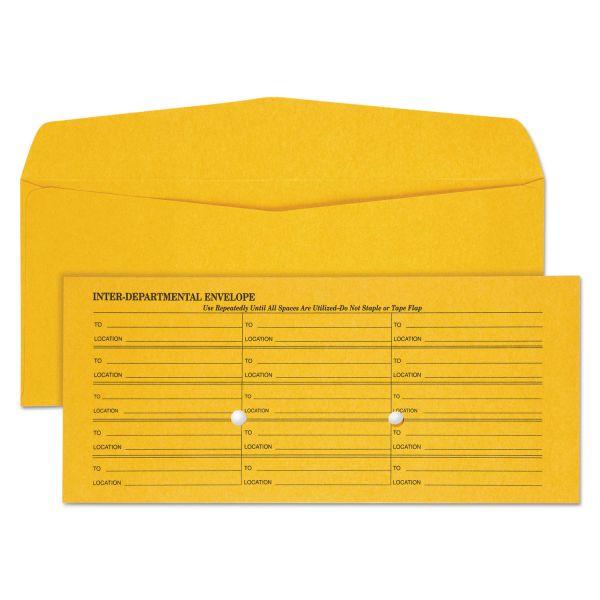 Quality Park Light Brown Kraft Interoffice Envelope, #11, 4 1/2 x 10 3/8, 500/Box