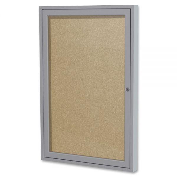 Ghent 1-Door Enclosed Vinyl Bulletin Board