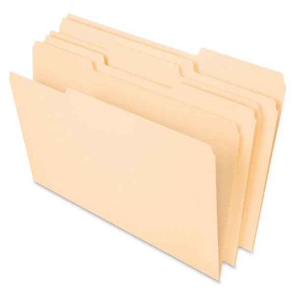 Pendaflex File Folders, 1/3 Cut Top Tab, Legal, Manila, 100/Box