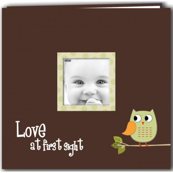 "Baby Owl Printed Design Post Bound Scrapbook Album 12""X12"""