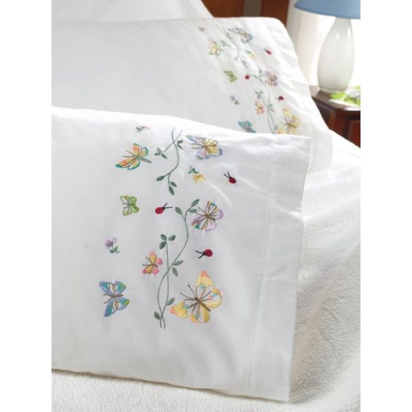 "Stamped Embroidery Pillowcase Pair 20""X30"""