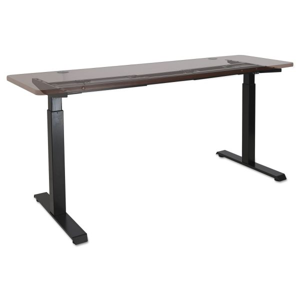 "Alera 2-Stage Electric Adjustable Table Base, 27 1/4"" to 47 1/4"" High, Black"