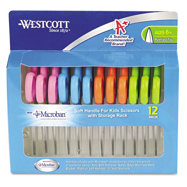 Westcott Kids Soft Handle Scissors with Microban Protection