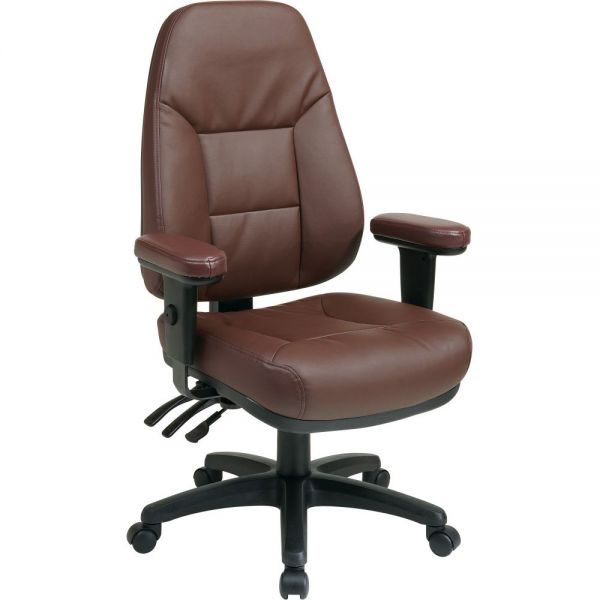 Office Star High-Back Eco-Leather Office Chair