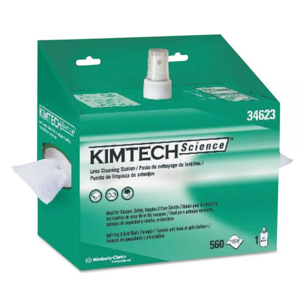 Kimtech* Lens Cleaning Station, POP-UP Box, White, 4/Case