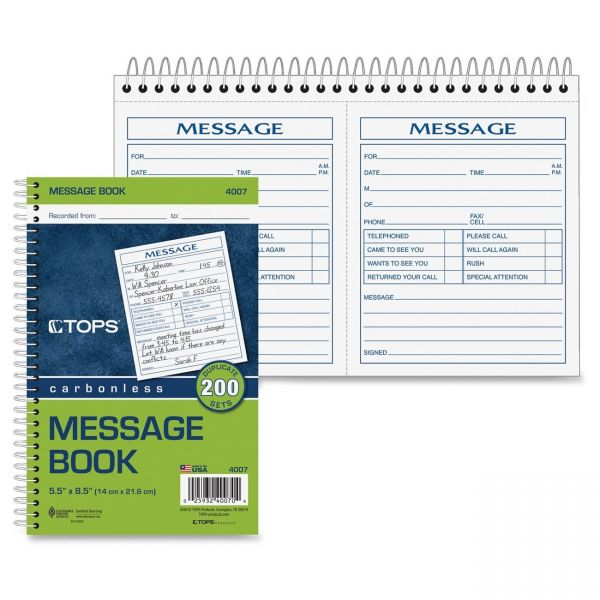 TOPS Message Book