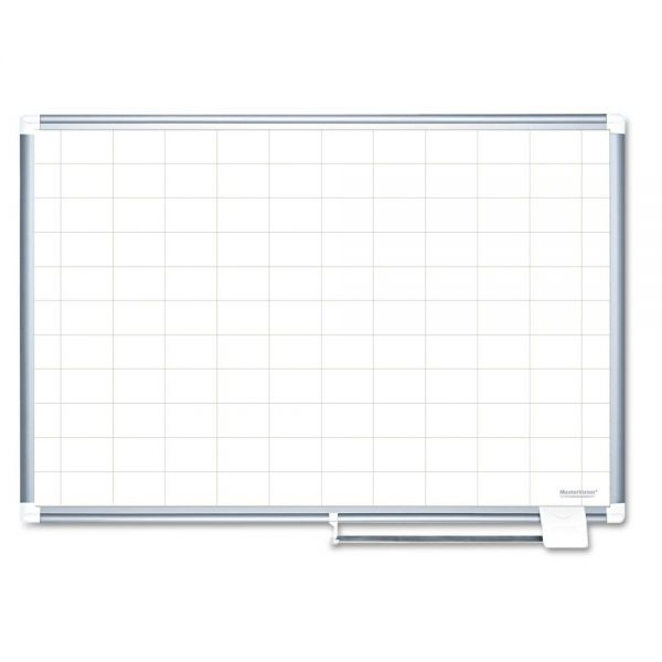"MasterVision 72"" x 48"" Gold Ultra Magnetic Painted Steel Planning Dry Erase Whiteboard"