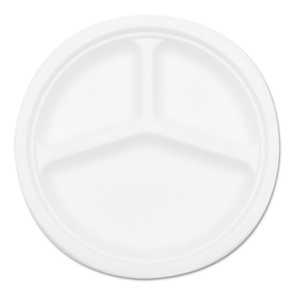 "NatureHouse 10"" Bagasse Compartment Plates"