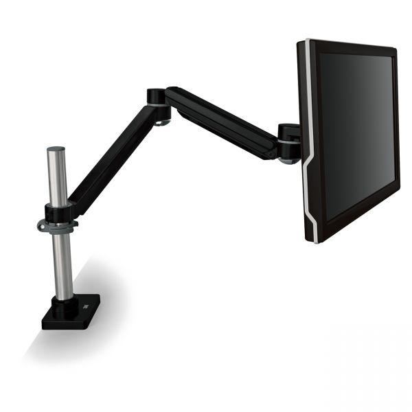 3M Easy-Adjust Monitor Arm, 4 1/2 x 25 1/2, Black Gray