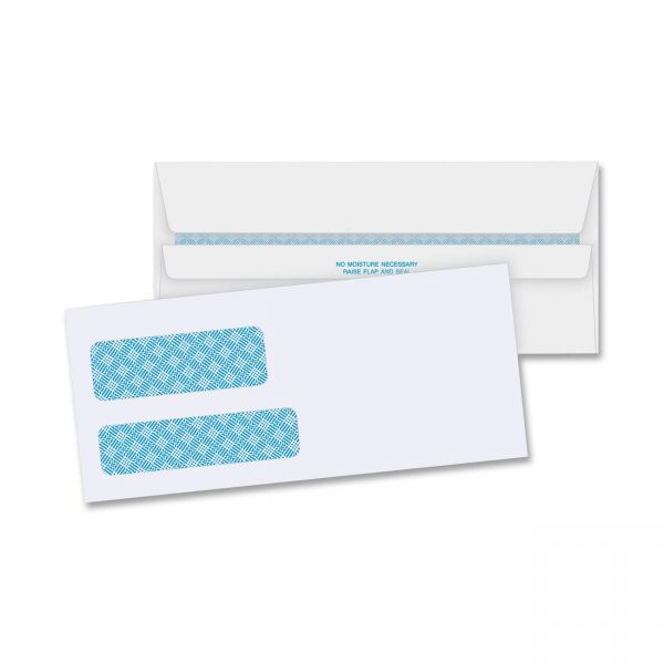 Business Source No. 9Double Window Invoice Envelopes