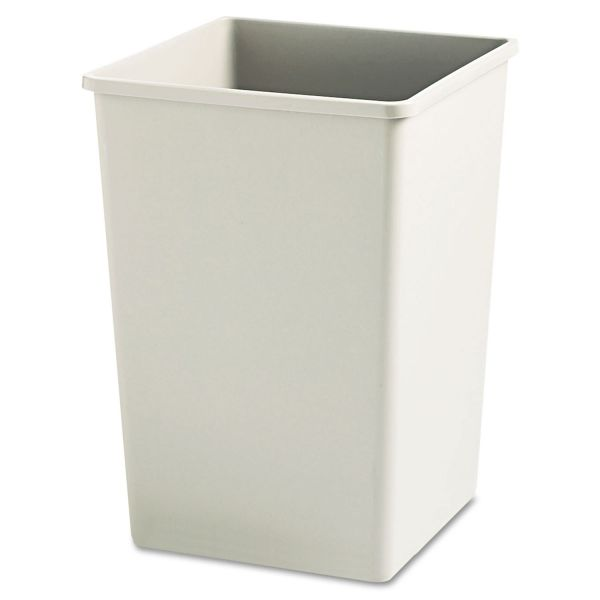 Rubbermaid Commercial Plaza Waste Container Rigid Liner, Square, Plastic, 35gal, Beige