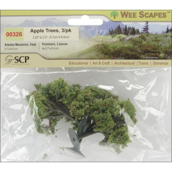 "Apple Trees 2.25"" To 2.5"" 3/Pkg"