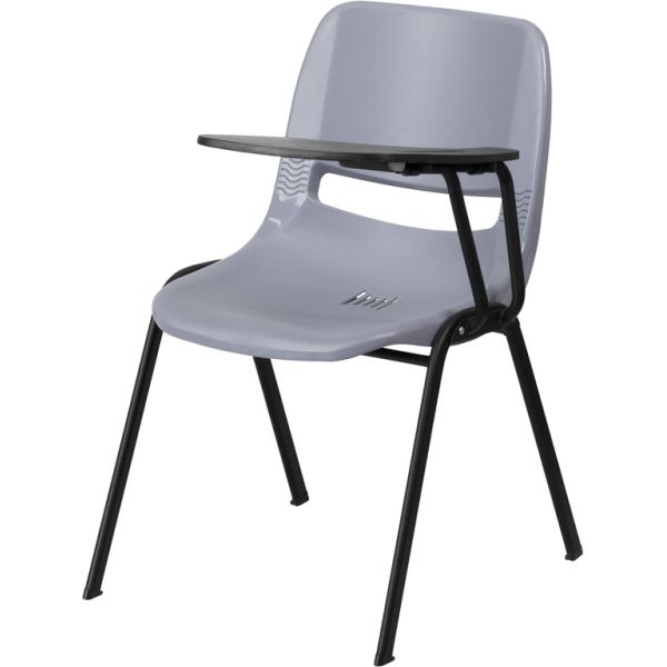 Flash Furniture Ergonomic Shell Chair with Left Handed Flip-Up Tablet Arm