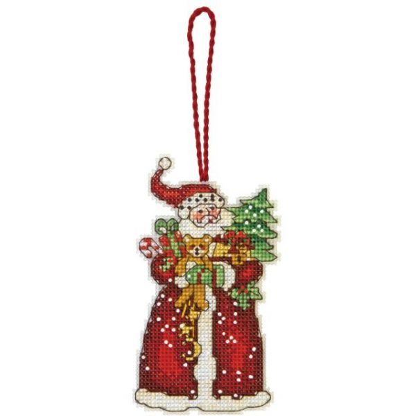 Susan Winget Santa Ornament Counted Cross Stitch Kit