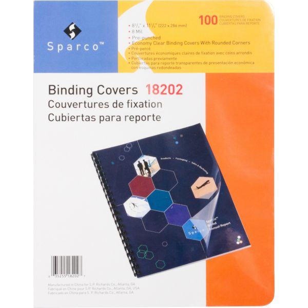 Sparco Standard Presentation Binding Covers
