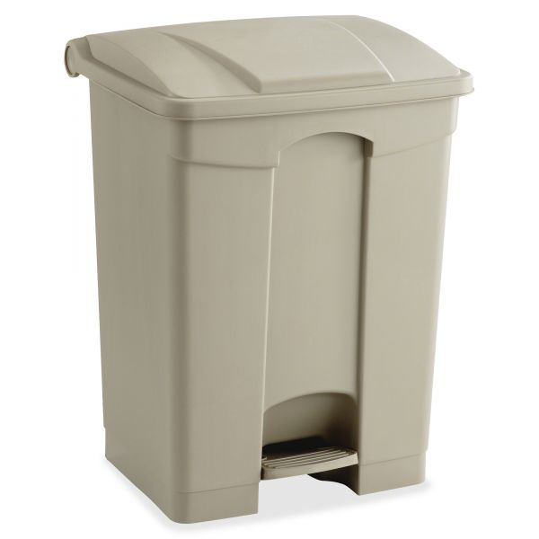 Safco Step-On 17 Gallon Trash Can With Lid