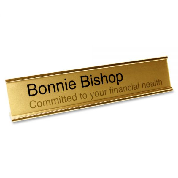 Mighty Badge Desk Plate Signage Kits