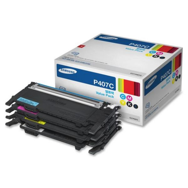 Samsung P407C Black & Color Toner Cartridges