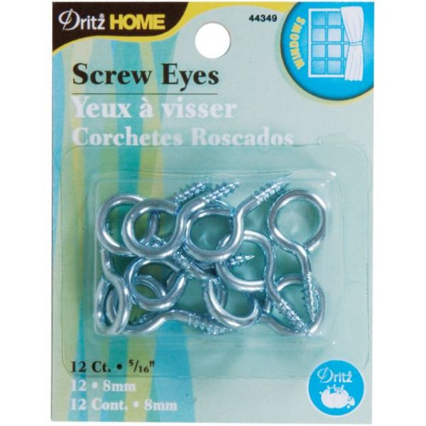 "Screw Eyes 5/16"" 12/Pkg"
