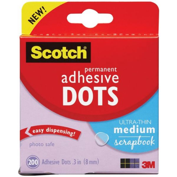 Scotch Permanent Ultra-Thin Medium Scrapbook Adhesive Dots