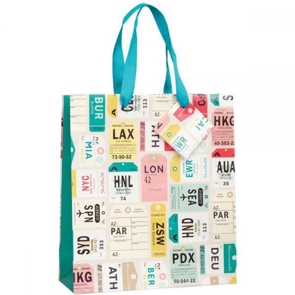 "Gift Bag W/Ribbon Handles & Gift Card 9.5""X9.5""X4"""
