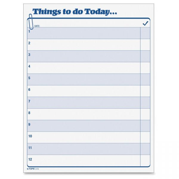 TOPS Things To Do Today Pad