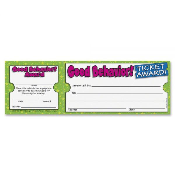 Scholastic Good Behavior Ticket Awards