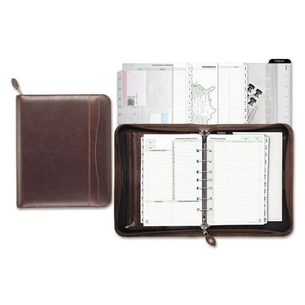 Day-Timer Sienna Simulated Leather Starter Set Organizer