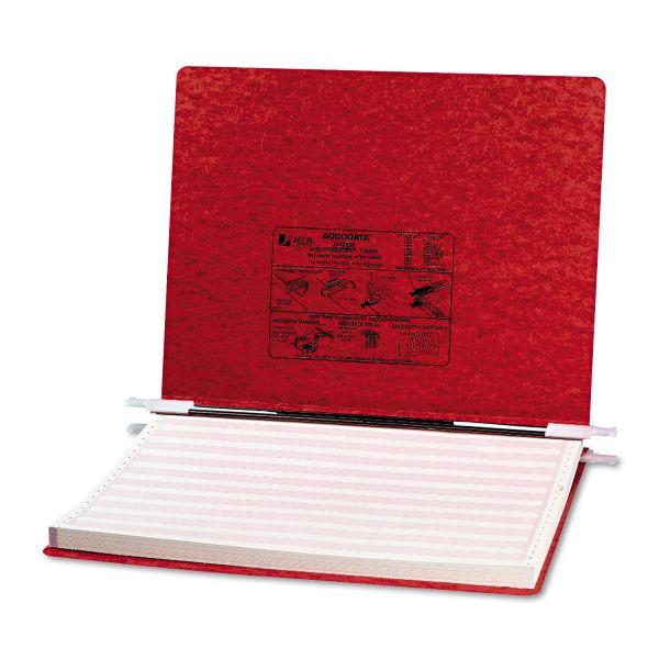 "ACCO PRESSTEX Covers w/Storage Hooks, 6"" Cap, 14 7/8 x 11, Executive Red"