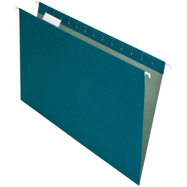 Pendaflex Earthwise by Pendaflex Recycled Hanging File Folder, 1/5 Cut, Lgl,  Blue, 25/BX